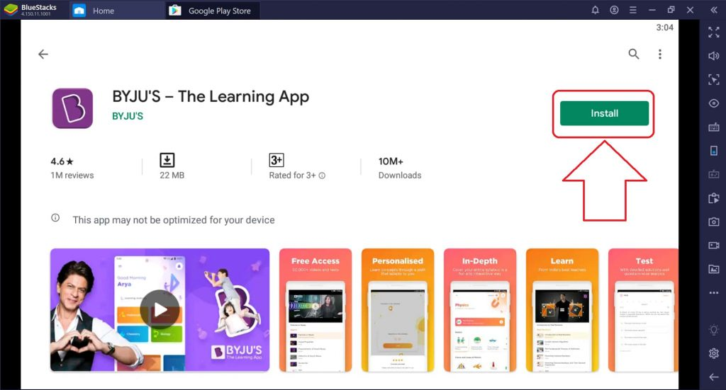 install Byju's app for pc