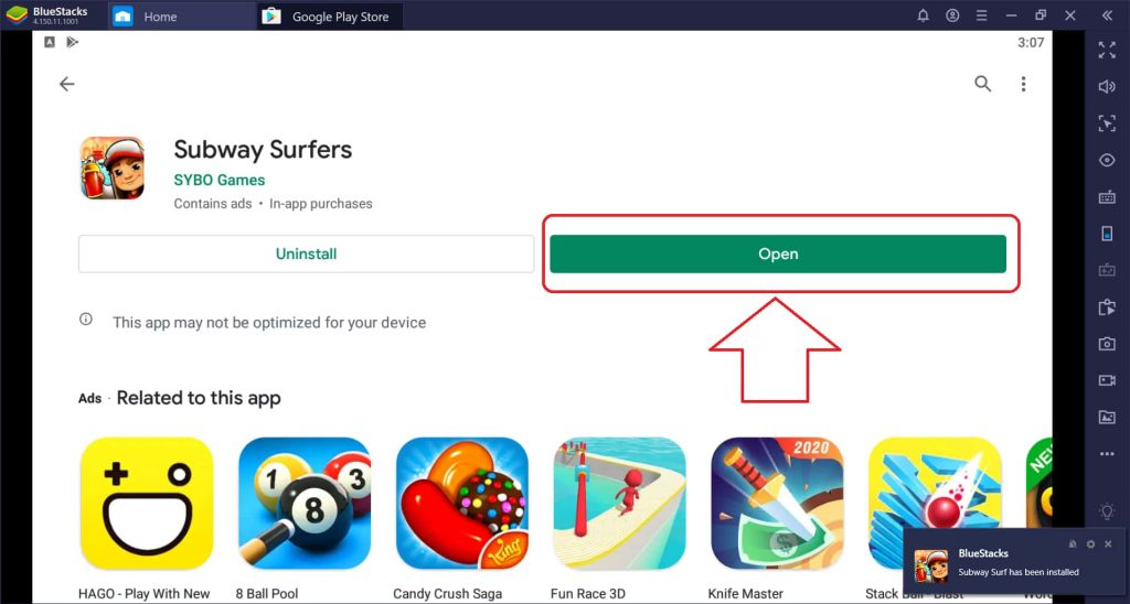 open subway surfers on pc