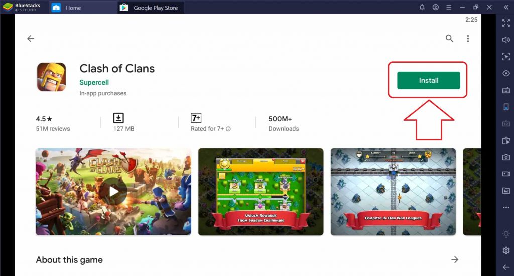 install clash of clans pc